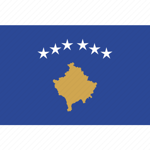 country, flag, kosovo, national icon