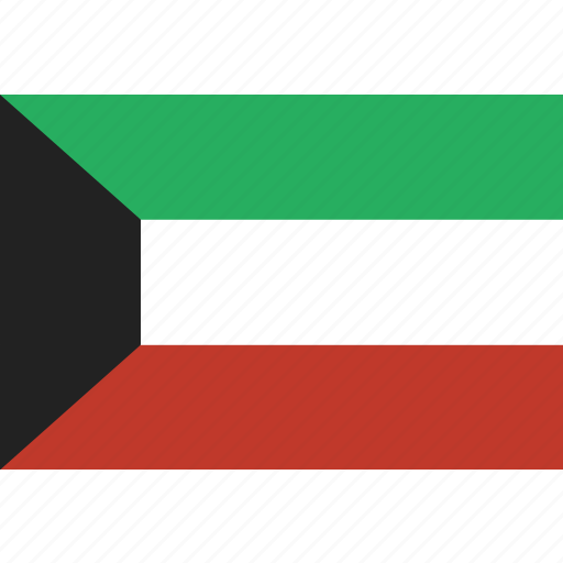 country, flag, kuwait, national icon