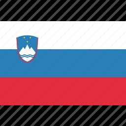 country, flag, national, slovenia, slovenian icon