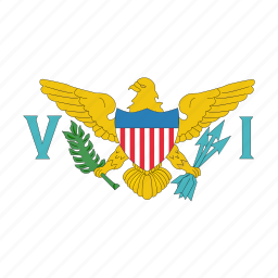 flag, islands, us, virgin icon