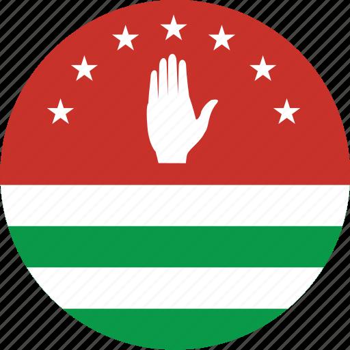 abkhazia, abkhazia flag, circle, circular, country, flag, flag of abkhazia, flags, national, round, world icon