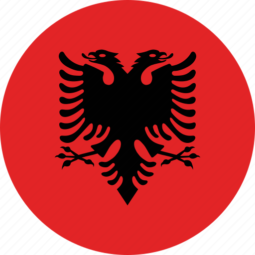 Image result for albania flag circle