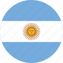 argentina, argentina flag, circle, circular, country, flag, flag of argentina, flags, national, round, world icon
