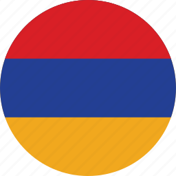 armenia, armenia flag, circle, circular, country, flag, flag of armenia, flags, national, round, world icon