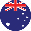 australia, australia flag, circle, circular, country, flag, flag of australia, flags, national, round, world icon