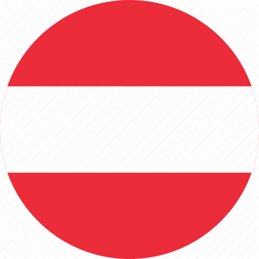 austria, austria flag, circle, circular, country, flag, flag of austria, flags, national, round, world icon