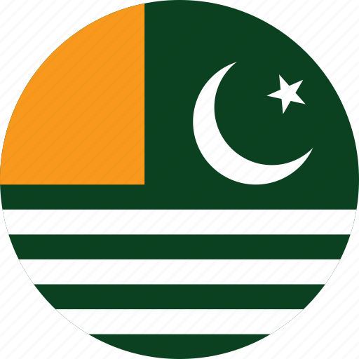 azad, azad kashmir, circle, circular, country, flag, flag of azad, flags, kashmir, national, round, world icon