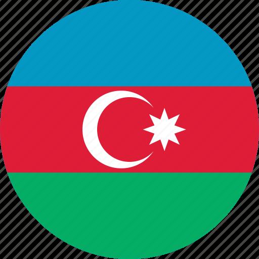 Image result for azerbaijan circle flag