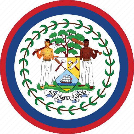 belize, belize flag, circle, circular, country, flag, flag of belize, flags, national, round, world icon