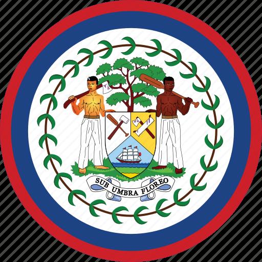belize belize flag circle circular country flag flag of belize