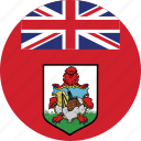 bermuda, bermuda flag, circle, circular, country, flag, flag of bermuda, flags, national, round, world icon