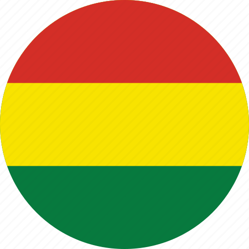 bolivia, bolivia flag, circle, circular, country, flag, flag of bolivia, flags, national, round, world icon