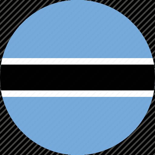 botswana, botswana flag, circle, circular, country, flag, flag of botswana, flags, national, round, world icon