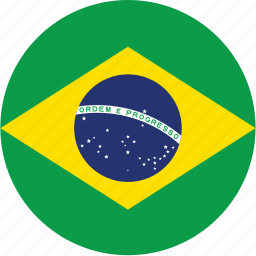 brazil, brazil flag, circle, circular, country, flag, flag of brazil, flags, national, round, world icon