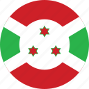 burundi, burundi flag, circle, circular, country, flag, flag of burundi, flags, national, round, world icon