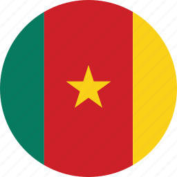 cameroon, cameroon flag, circle, circular, country, flag, flag of cameroon, flags, national, round, world icon