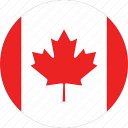 canada, canada flag, circle, circular, country, flag, flag of canada, flags, national, round, world icon