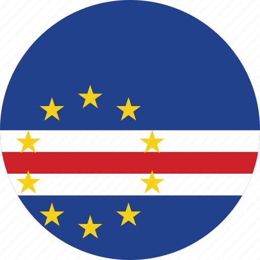cape, cape verde, circle, circular, country, flag, flag of cape, flags, national, round, verde, world icon