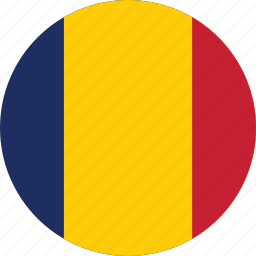 chad, chad flag, circle, circular, country, flag, flag of chad, flags, national, round, world icon
