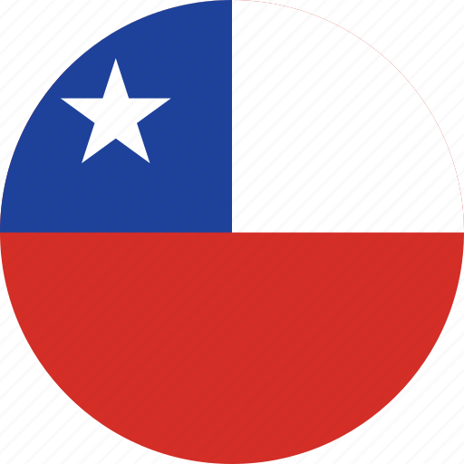 chile, chile flag, circle, circular, country, flag, flag of chile, flags, national, round, world icon