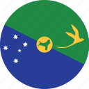 christmas, christmas island, circle, circular, country, flag, flag of christmas, flags, island, national, round, world icon