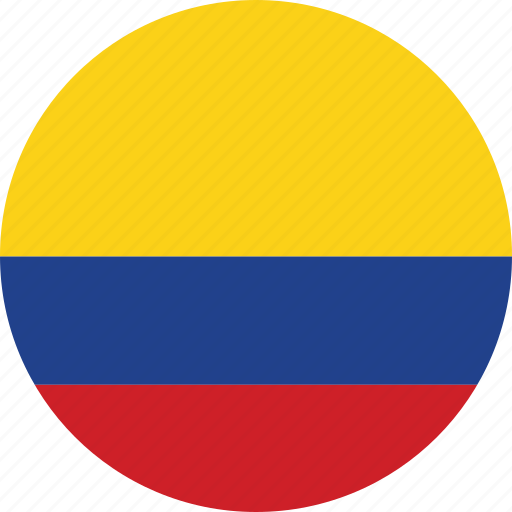 circle, circular, colombia, colombia flag, country, flag, flag of colombia, flags, national, round, world icon