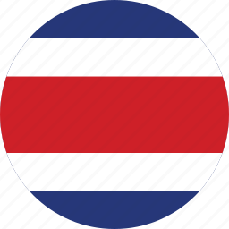 circle, circular, costa, costa rica, country, flag, flag of costa, flags, national, rica, round, world icon