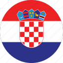 circle, circular, country, croatia, croatia flag, flag, flag of croatia, flags, national, round, world icon
