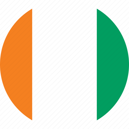 circle, circular, coast, cote, cote d, cote d'ivoire, country, d'ivoire, divoire, flag, flag of cote, flag of ivory, flags, ivory, ivory coast, national, round, world icon
