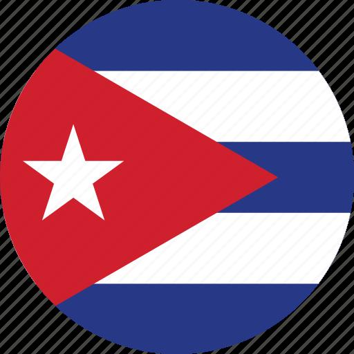 circle, circular, country, cuba, cuba flag, flag, flag of cuba, flags, national, round, world icon