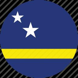 circle, circular, country, curaao, curaao flag, flag, flag of curaao, flags, national, round, world icon