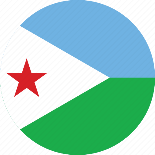 circle, circular, country, djibouti, djibouti flag, flag, flag of djibouti, flags, national, round, world icon