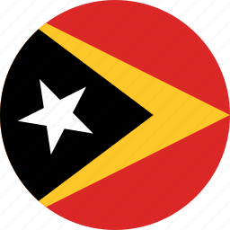 circle, circular, country, east, east timor, east timor flag, flag, flag of east, flag of east timor, flags, national, round, timor, timor flag, world icon