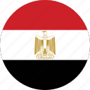 circle, circular, country, egypt, egypt flag, flag, flag of egypt, flags, national, round, world icon