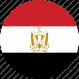 circle, circular, country, egypt, egypt flag, flag, flag of egypt, flags, national, round, world icon