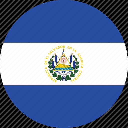 circle, circular, country, el, el salvador, el salvador flag, flag, flag of el, flag of el salvador, flags, national, round, salvador, world icon