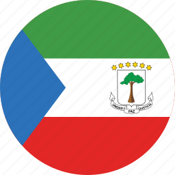 circle, circular, country, equatorial, equatorial guinea, equatorial guinea flag, flag, flag of equatorial guinea, flags, guinea, national, round, world icon