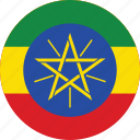 circle, circular, country, ethiopia, ethiopia flag, flag, flag of ethiopia, flags, national, round, world icon