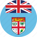 circle, circular, country, fiji, fiji flag, flag, flag of fiji, flags, national, round, world icon