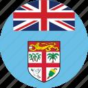 circle, circular, country, fiji, fiji flag, flag, flag of fiji, flags, national, round, world icon
