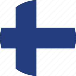 circle, circular, country, finland, finland flag, flag, flag of finland, flags, national, round, world icon