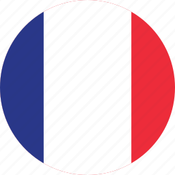 circle, circular, country, flag, flags, france, french icon