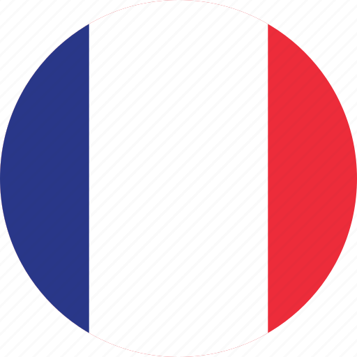 circle circular country flag flags france french icon