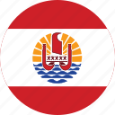 circle, circular, country, flag, flag of french, flag of french polynesia, flags, french, french polynesia, french polynesia flag, national, polynesia, round, world icon