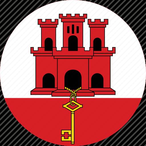 Image result for gibraltar circle flag