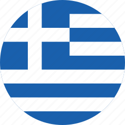 circle, circular, country, flag, flag of greece, flags, greece, greece flag, national, round, world icon