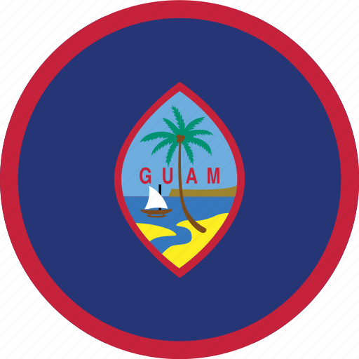 circle, circular, country, flag, flag of guam, flags, guam, guam flag, national, round, world icon