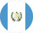 circle, circular, country, flag, flag of guatemala, flags, guatemala, guatemala flag, national, round, world icon