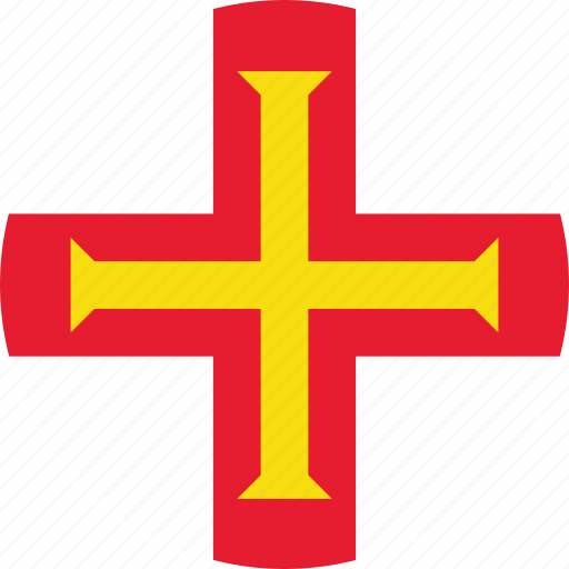 bailiwick, bailiwick of, bailiwick of guernsey, circle, circular, country, flag, flag of bailiwick, flag of guernsey, flags, guernsey, guernsey flag, national, round, world icon