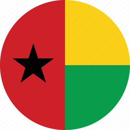 bissau, buinea bissau, circle, circular, country, flag, flag of buinea, flags, guinea, national, round, world icon